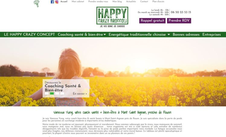 page d'accueil site